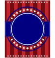 usa flag symbols round border vector image vector image