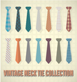 Vintage Neck Tie Collection vector image vector image