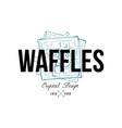 waffles food logo original design retro emblem vector image vector image