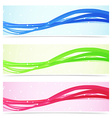 Web speed line colorful banner collection vector image vector image
