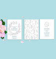wedding set card vector image