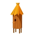 Wooden beehive icon cartoon style vector image vector image