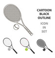 tennis icon cartoon single sport icon from the vector image