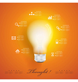 Creative light bulb with application icons vector image