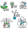 set of colorful light bulb logo templates growth vector image