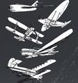 Soviet retro planes collection vector image