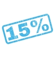 15 Percent Rubber Stamp vector image vector image