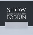 3d podium with soft reflection realistic minimal vector image vector image