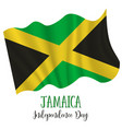 6 august jamaica independence day background vector image