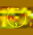 a concept of currency vector image vector image