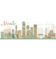 Abstract Manila Skyline with Color Buildings vector image