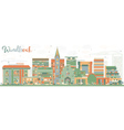 Abstract Windhoek Skyline with Color Buildings vector image