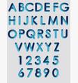 alphabet neon vector image