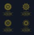 amazing luxury logo designs vector image vector image
