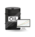 barrel oil concept finance graph vector image vector image