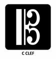 c clef vector image vector image