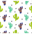 cacti tribal seamless pattern mexican vector image vector image