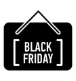Card black friday icon simple style vector image vector image