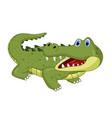 cartoon crocodile isolated on white background vector image vector image