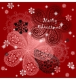 Christmas and New Year greeting thank you vector image