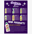 Cleaning products advertising banner vector image