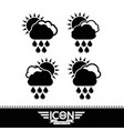 cloud rain sun icon vector image vector image