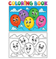 coloring book balloons theme 1 vector image vector image