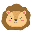 cute lion face emoticon emoji expression vector image