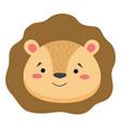 cute lion face emoticon emoji expression vector image