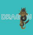 dragon vintage logo design vector image vector image