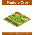 ecological farm with beds vector image vector image