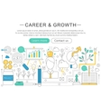 elegant thin line flat modern Career and vector image vector image