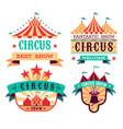 emblems circus show retro festival signboards vector image vector image