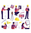 engineering isolated set vector image vector image