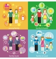 Family with children kids people concept vector image vector image