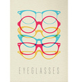 Fashion hipster glasses concept color design vector image vector image