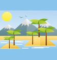 flat design tropical summer vector image vector image