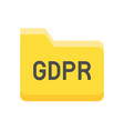 gdpr general data protection regulation icon flat vector image vector image