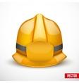 Gold fireman helmet vector image