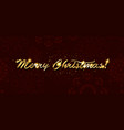 gold merry christmas card vector image vector image