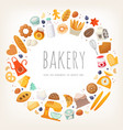 group of dairy products bread and bakery goods vector image vector image