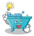 have an idea bathtub character cartoon style vector image vector image
