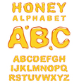 honey alphabet letters vector image
