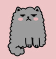 kawaii cute fat white cat anime style vector image vector image
