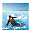 kite boarding vector image vector image