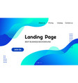 landing page template abstract liquid vector image