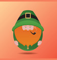 leprechaun with a pipe on st patrick39s day vec vector image vector image