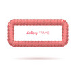 lollipop red rectangle frame vector image vector image