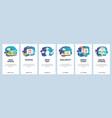 mobile app onboarding screens business data vector image