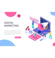 modern flat design isometric digital marketing vector image